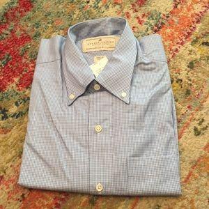 Madeleine Finn Button down light blue shirt L NWT